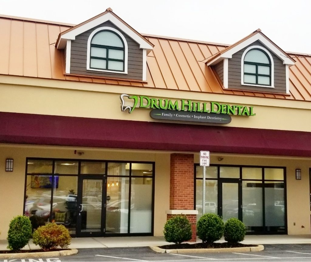 drum hill dental, chelmsford massachusetts, outside dental office, drum hill dental location