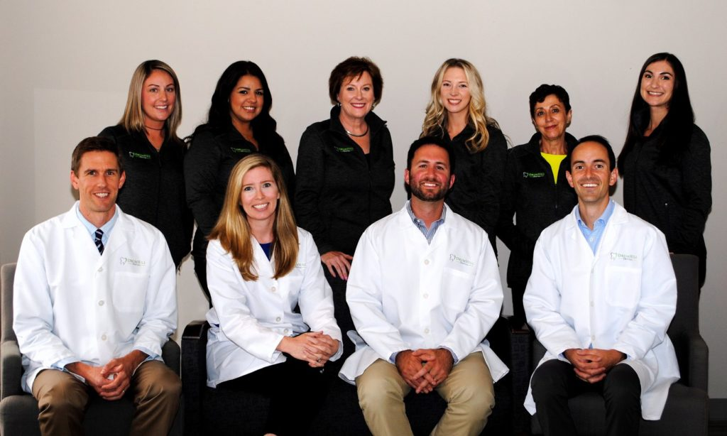 Group photo of the staff at Drum Hill Dental